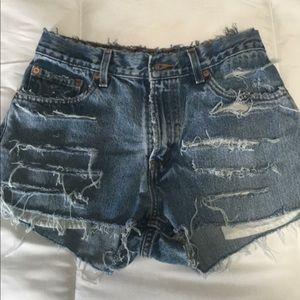 Women's Vintage Levi Shorts One Of A Kind